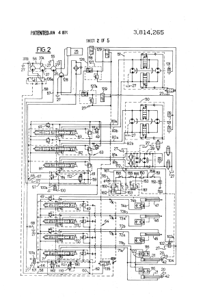 Patent US3814265  Hydraulic crane control system having means for deactivating control valves