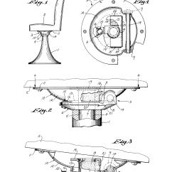 Swivel Chair Inventor Ergonomic Back Support Patent Us3863982 Tilt Mechanism For A
