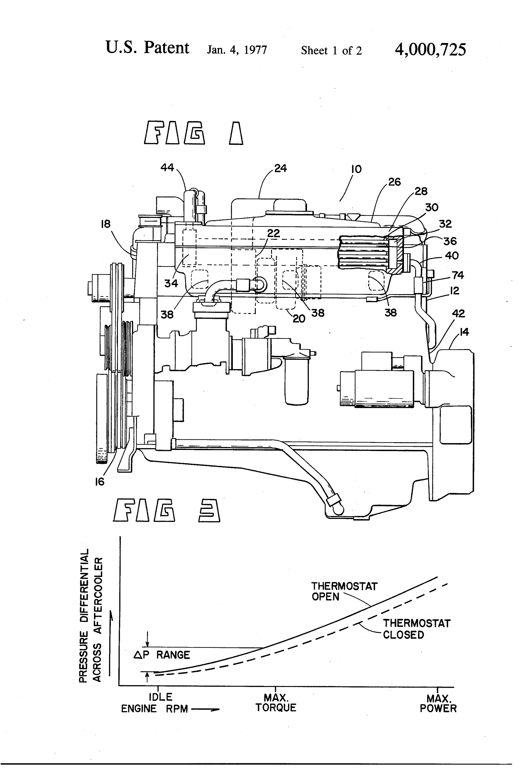 hight resolution of patent us4000725 aftercooler coolant flow control for internal 54 supercharged engine cooling diagram