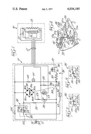 Patent US4034185  Electric blanket control circuit