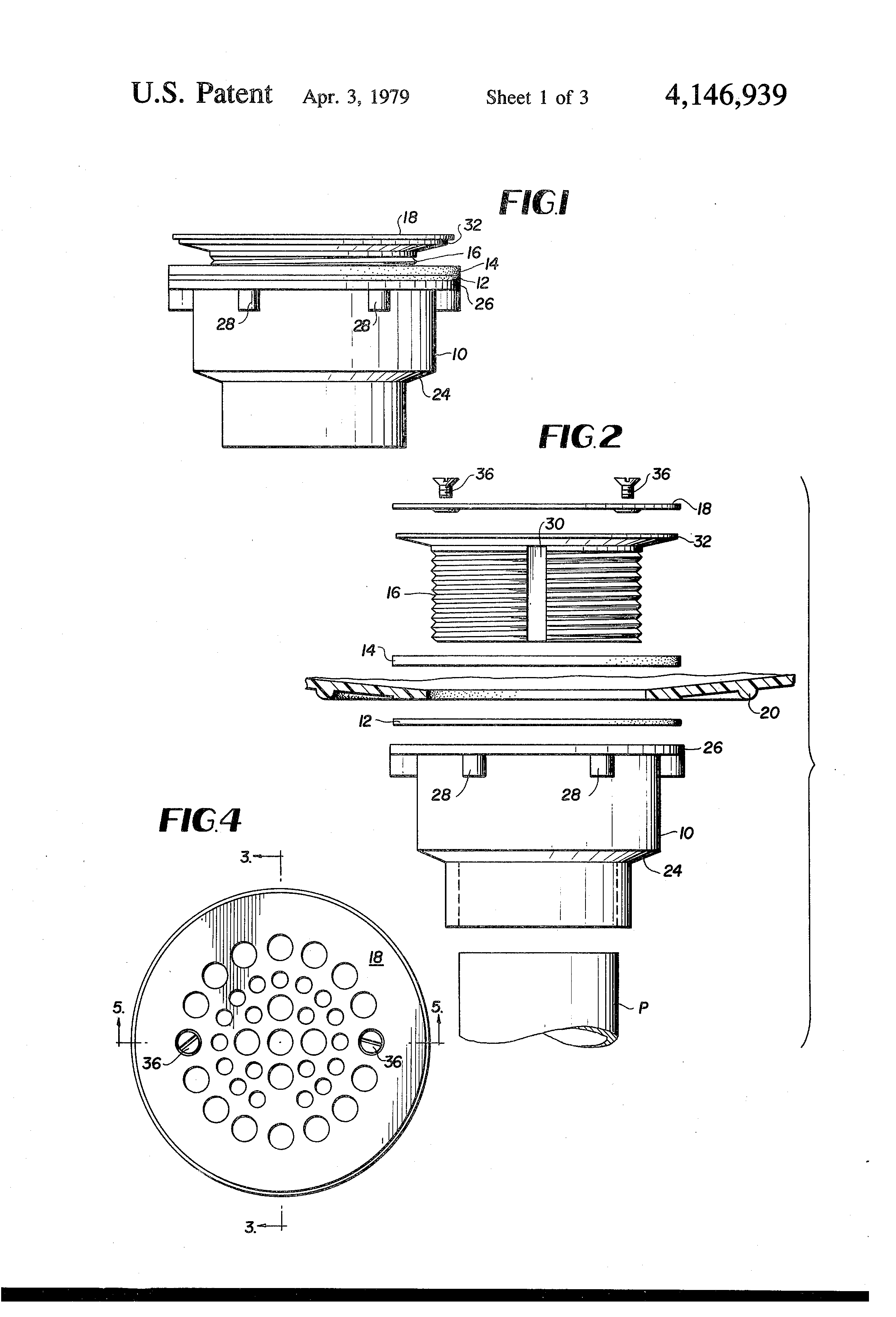 bathtub drain assembly diagram 2007 honda civic alternator wiring patent us4146939 fitting for pre formed or