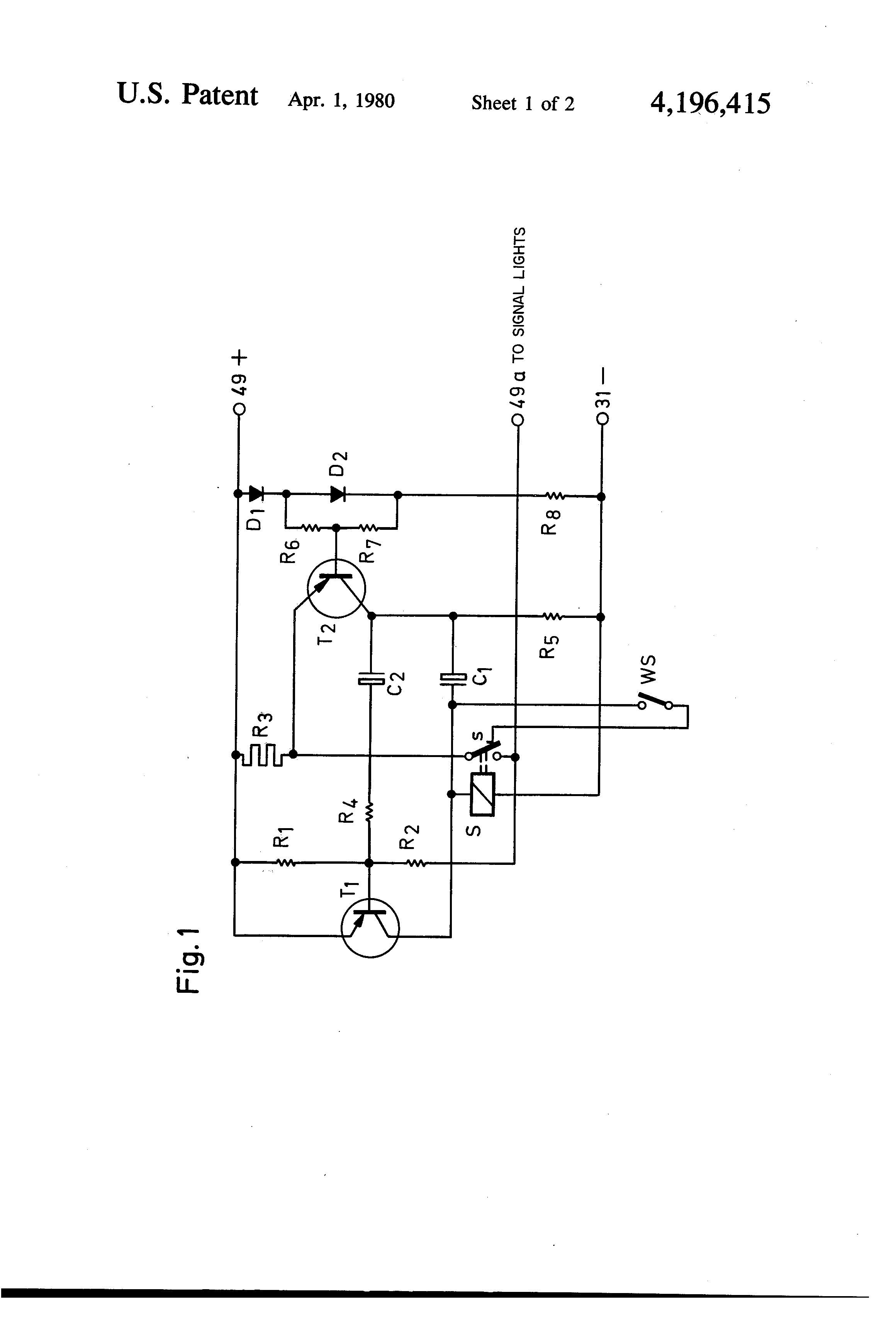 audew 2 pin flasher relay wiring diagram how to home electrical diagrams patent us4196415 automotive turn signal unit