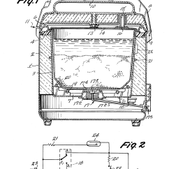 Electrical Wiring Diagram Of Rice Cooker 3 Way Zone Valve Patent Us4241288 Electric With Two Heaters