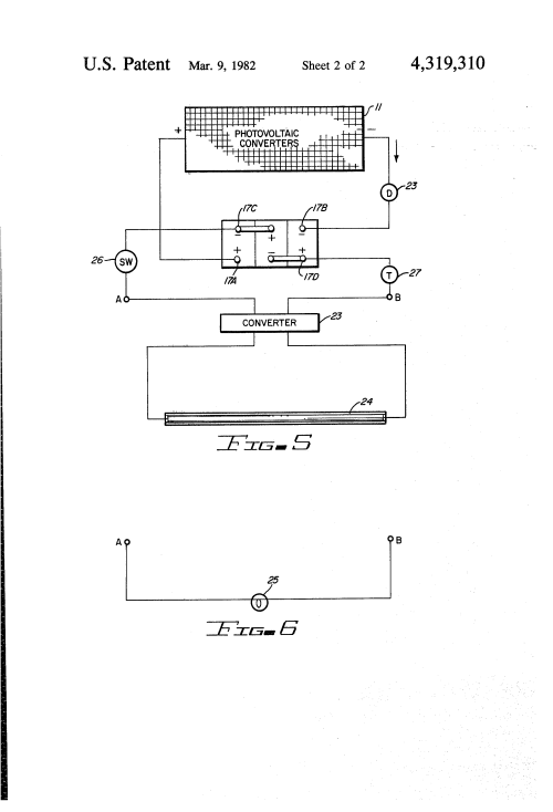 small resolution of patent us4319310 solar signs google patents system google patents on wiring solar panels in series and parallel