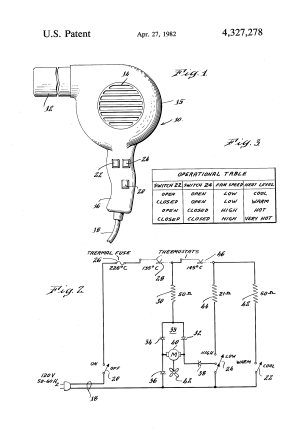 Patent US4327278  Simplified multiple speed hair dryer  Google Patents