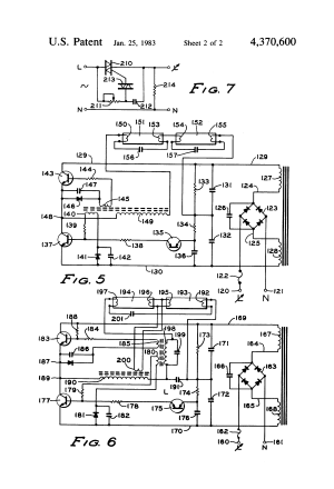 Patent US4370600  Twowire electronic dimming ballast for