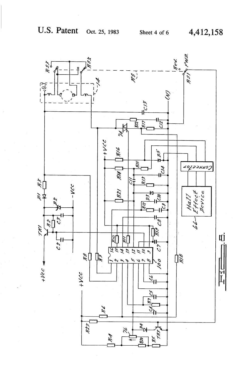 medium resolution of patent us4412158 speed control circuit for an electric 2 speed fan switch wiring diagram 2 speed fan switch wiring diagram