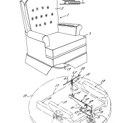 Swivel Chair Inventor Swinging Patio Patent Us4438973 With Brake Google Patents