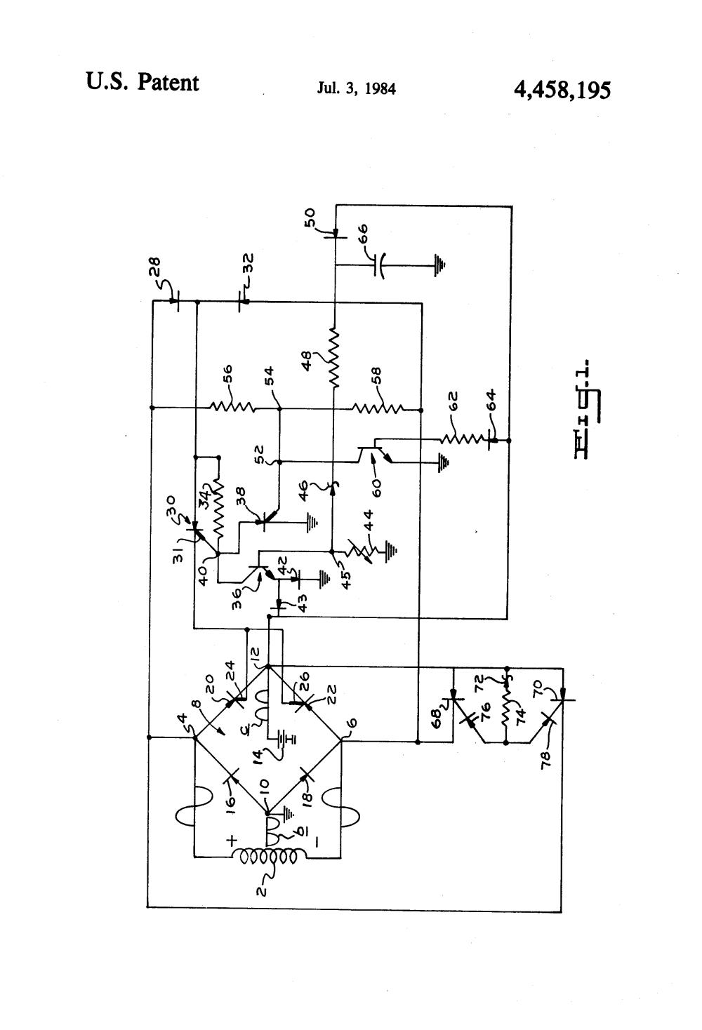 medium resolution of  patent us4458195 electronic regulator for alternator battery on rx300 battery cable harness tympanium regulator wiring diagram