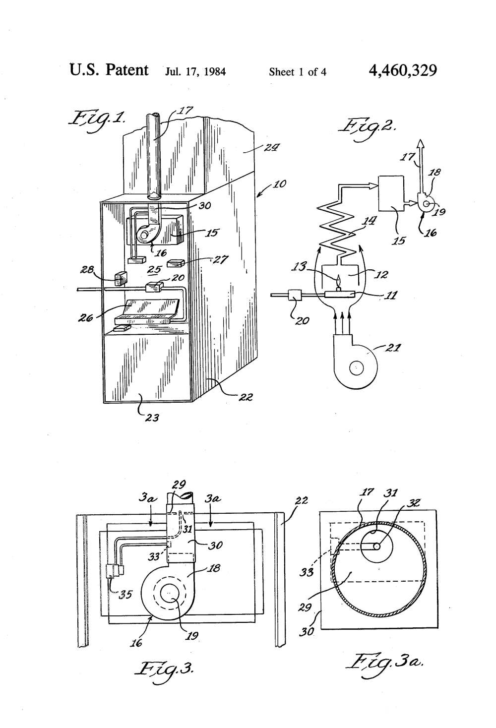medium resolution of patent us4460329 power vent and control for furnace google patents