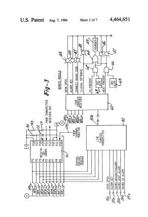 Patent US4464651  Home security and garage door operator