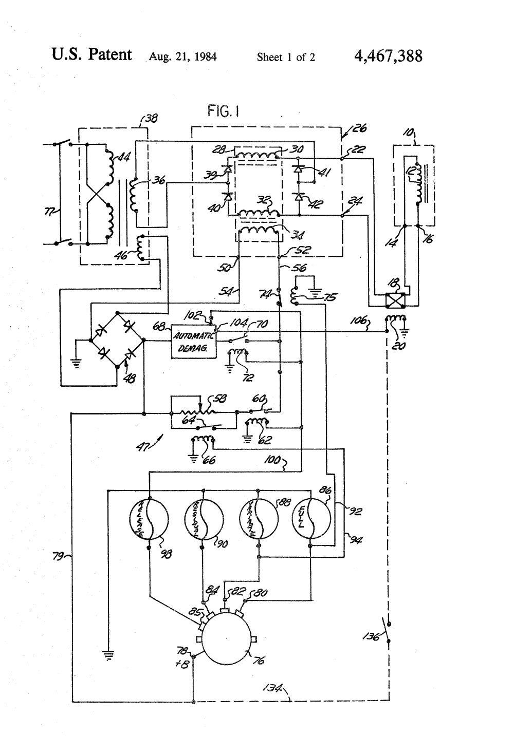 medium resolution of magnetic chuck wiring diagram wiring diagram brevet us4467388 electromagnetic chuck power supply and controllermagnetic chuck wiring