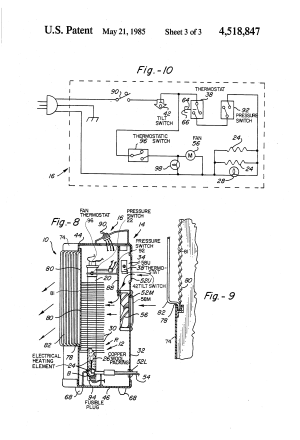 Patent US4518847  Electricallypowered portable space heater  Google Patents