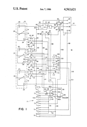 Patent US4563621  Speed control circuit for golf carts