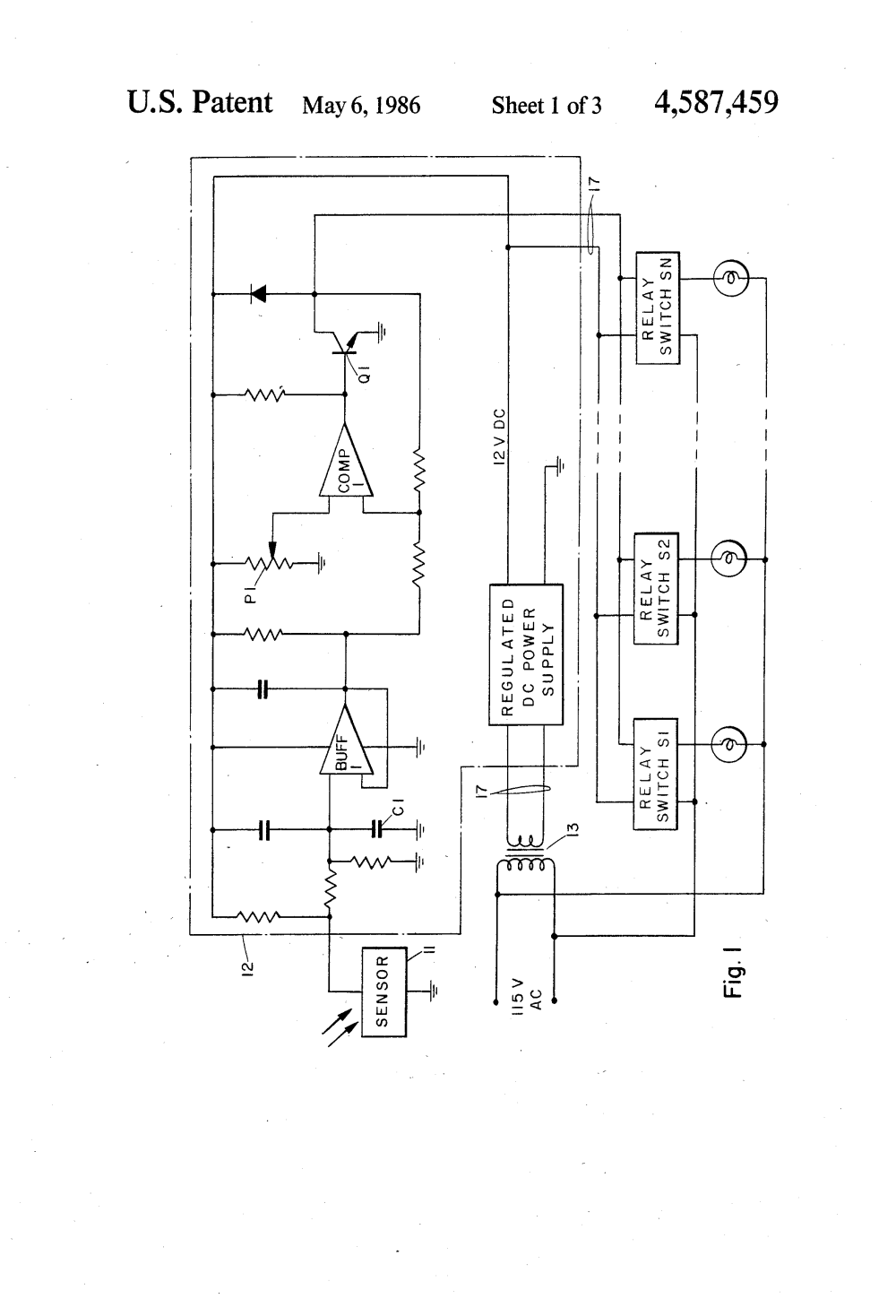 medium resolution of  us4587459 1 patent us4587459 light sensing light fixture control system area lighting research photocell wiring