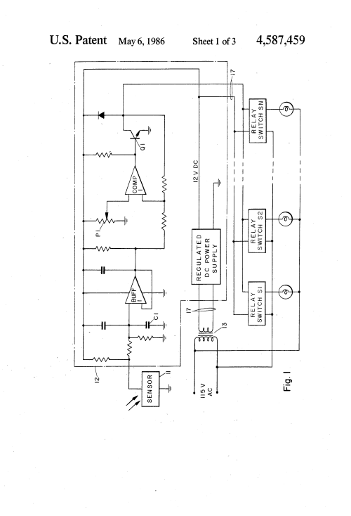 small resolution of  us4587459 1 patent us4587459 light sensing light fixture control system area lighting research photocell wiring