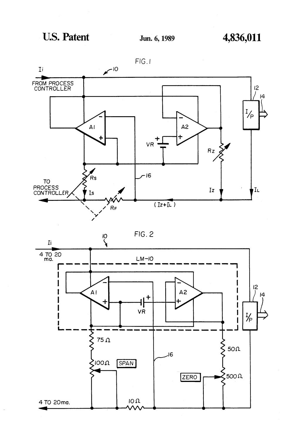 medium resolution of adjustment circuit for current pressure transducer google patents