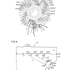 Desk Fan Motor Wiring Diagram Major Arteries And Veins Patent Us4937513 Tapped Auxiliary Winding For Multi
