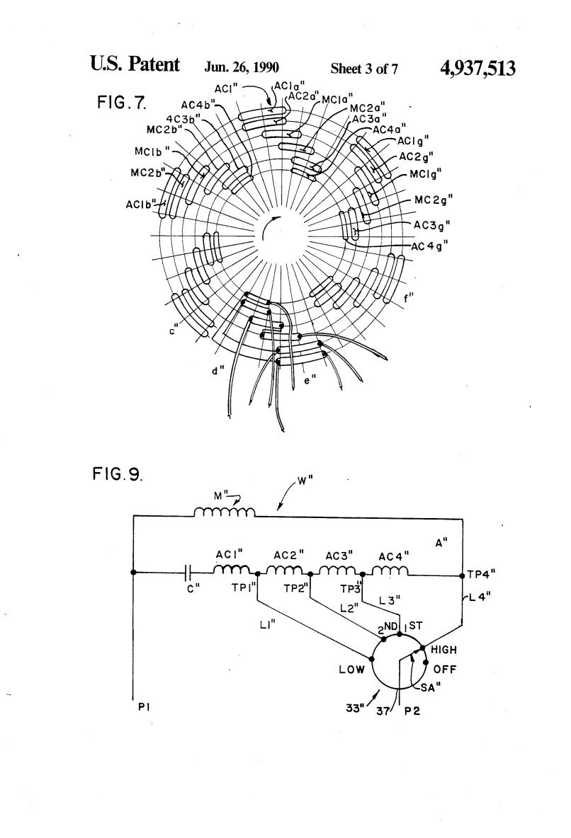 Electric Fan Motor Winding Diagram