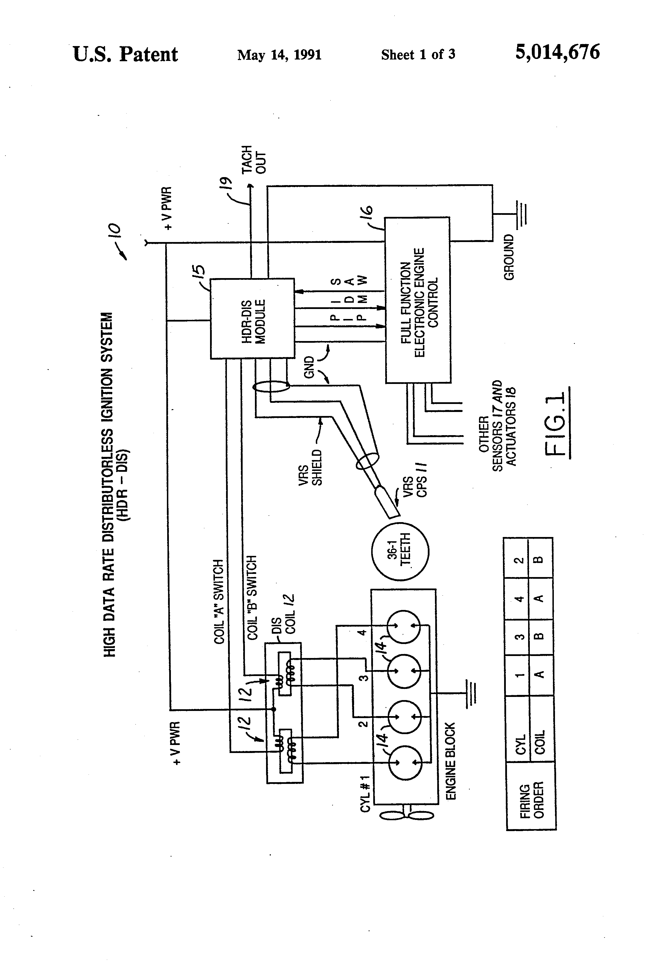 US5014676 1?resize=665%2C977 delphi dea355 stereo wiring diagram delphi stereo system, delphi international 4300 radio wiring diagram at fashall.co