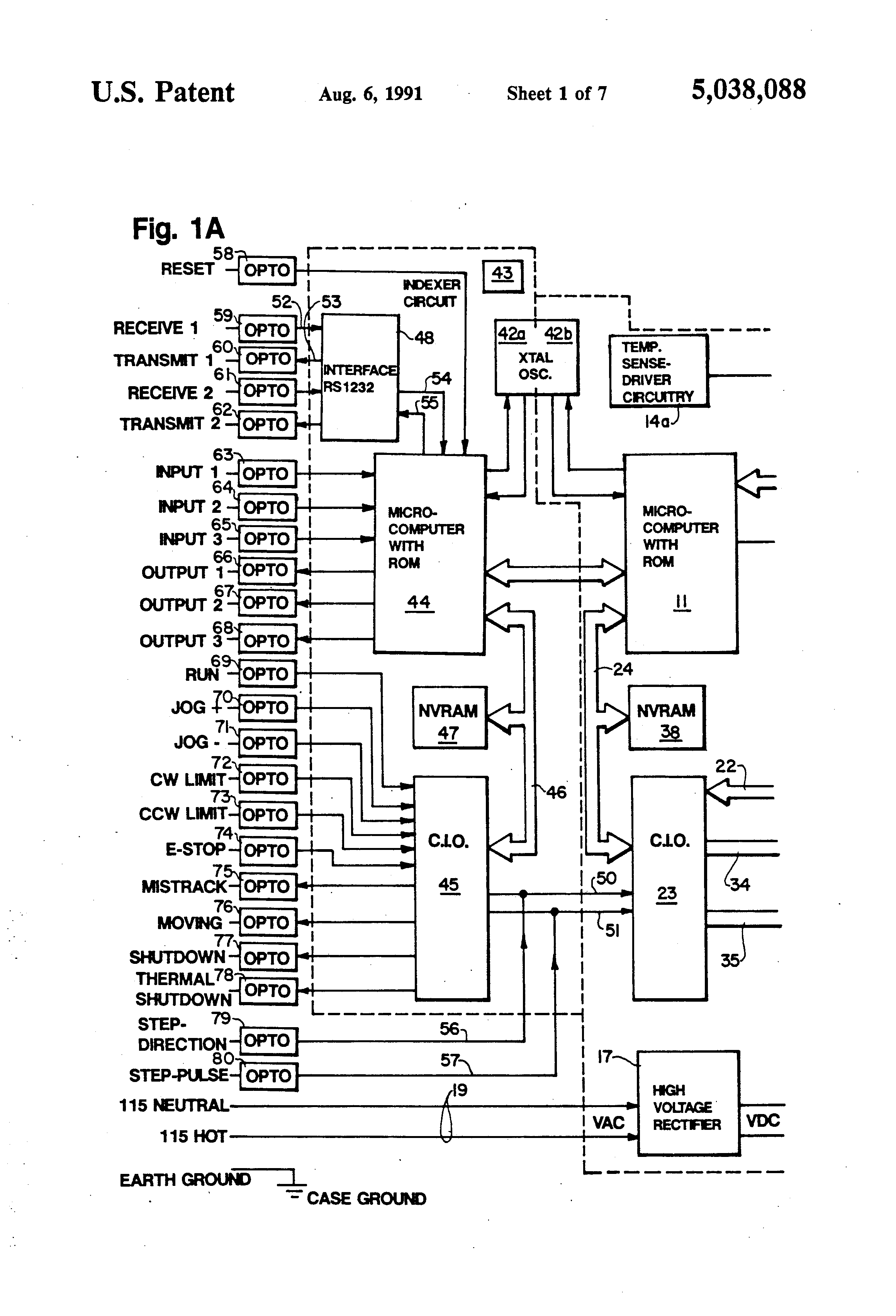 absolute encoder wiring diagram generator control panel patent us5038088 - stepper motor system google patents