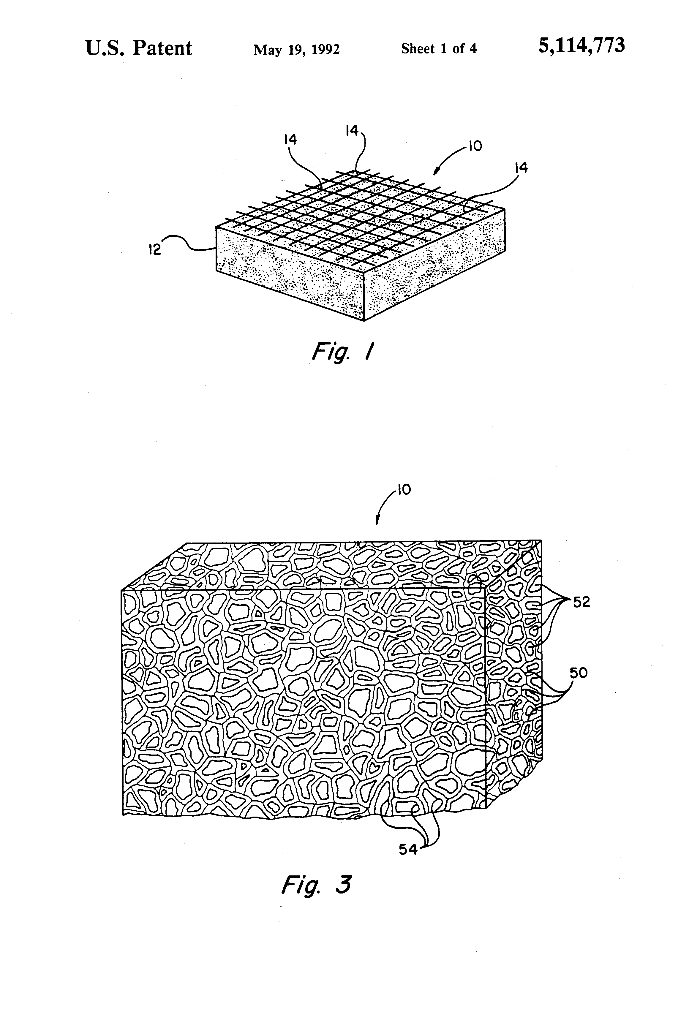 composite cell diagram ford fiesta 2006 radio wiring patent us5114773 resilient open foam
