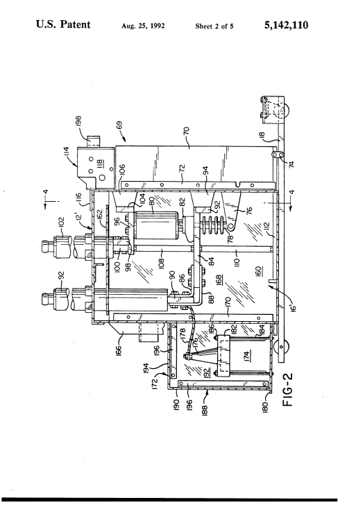 small resolution of  us5142110 2 patent us5142110 modified magne blast circuit breaker and method ge magne blast wiring diagram