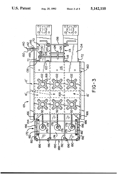 small resolution of  us5142110 3 patent us5142110 modified magne blast circuit breaker and method ge magne blast wiring diagram