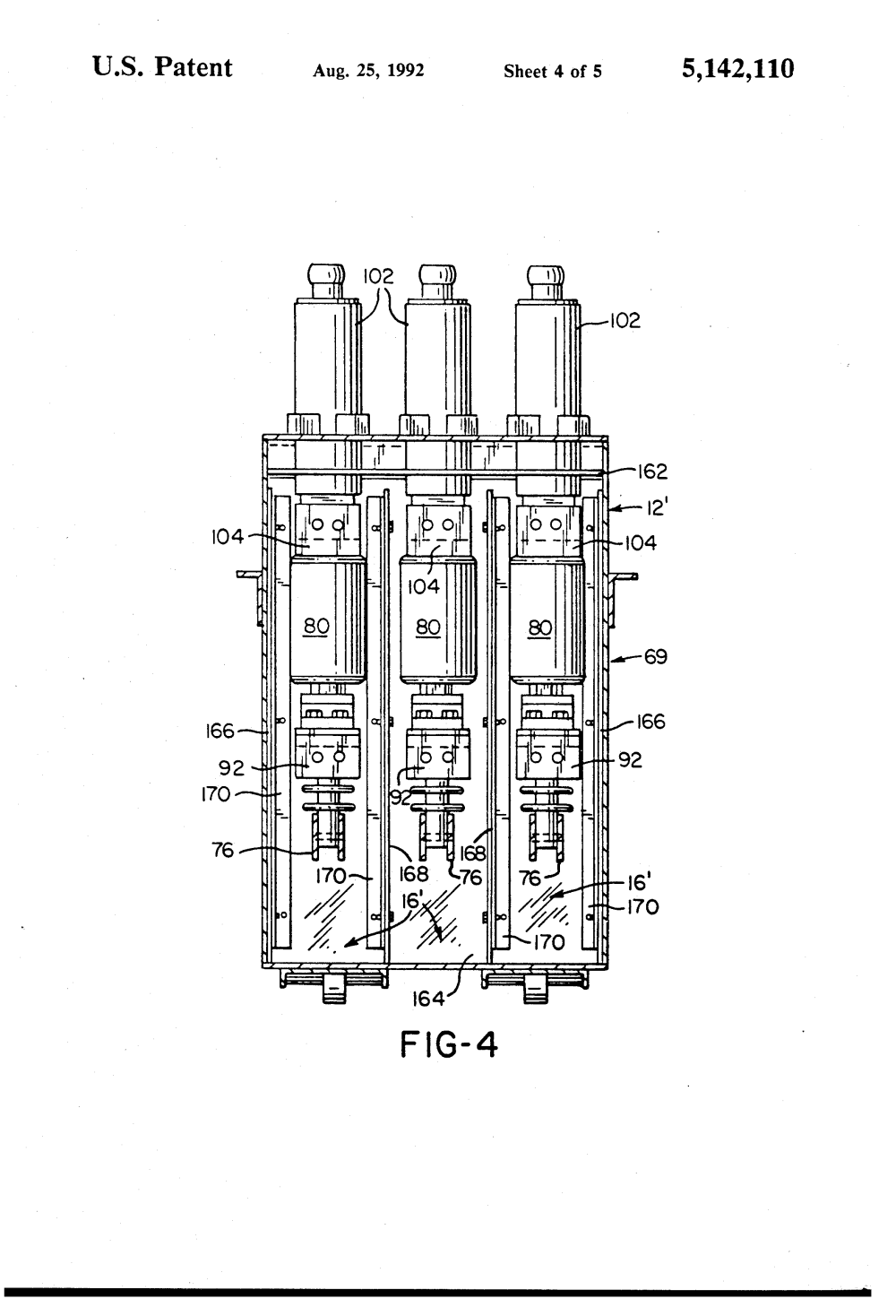 medium resolution of  us5142110 4 patent us5142110 modified magne blast circuit breaker and method ge magne blast wiring diagram