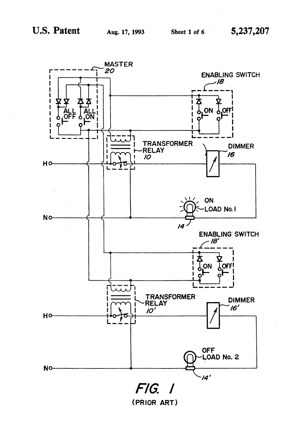 medium resolution of  us5237207 1 patent us5237207 master electrical load control system google lightolier easyset dimmer wiring diagram at
