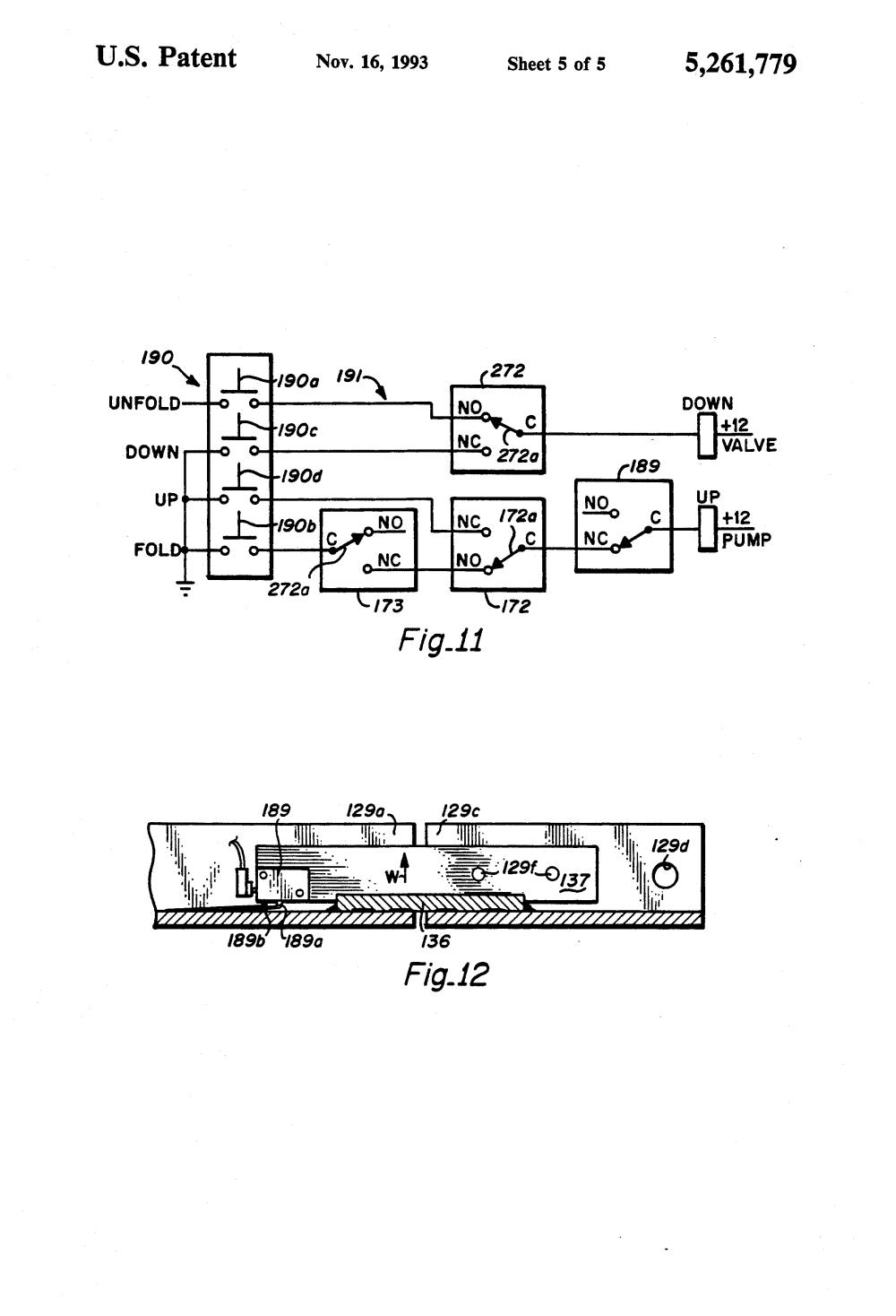 medium resolution of  us5261779 5 patent us5261779 dual hydraulic parallelogram arm wheelchair maxon lift gate switch wiring diagram