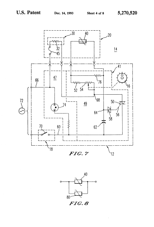 small resolution of patent us5270520 hair styling appliances and heater control curling iron wiring diagram