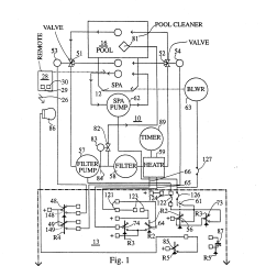 Pool Light Wiring Diagram Rc Servo Patent Us5278455 Spa And Pump Heater Control