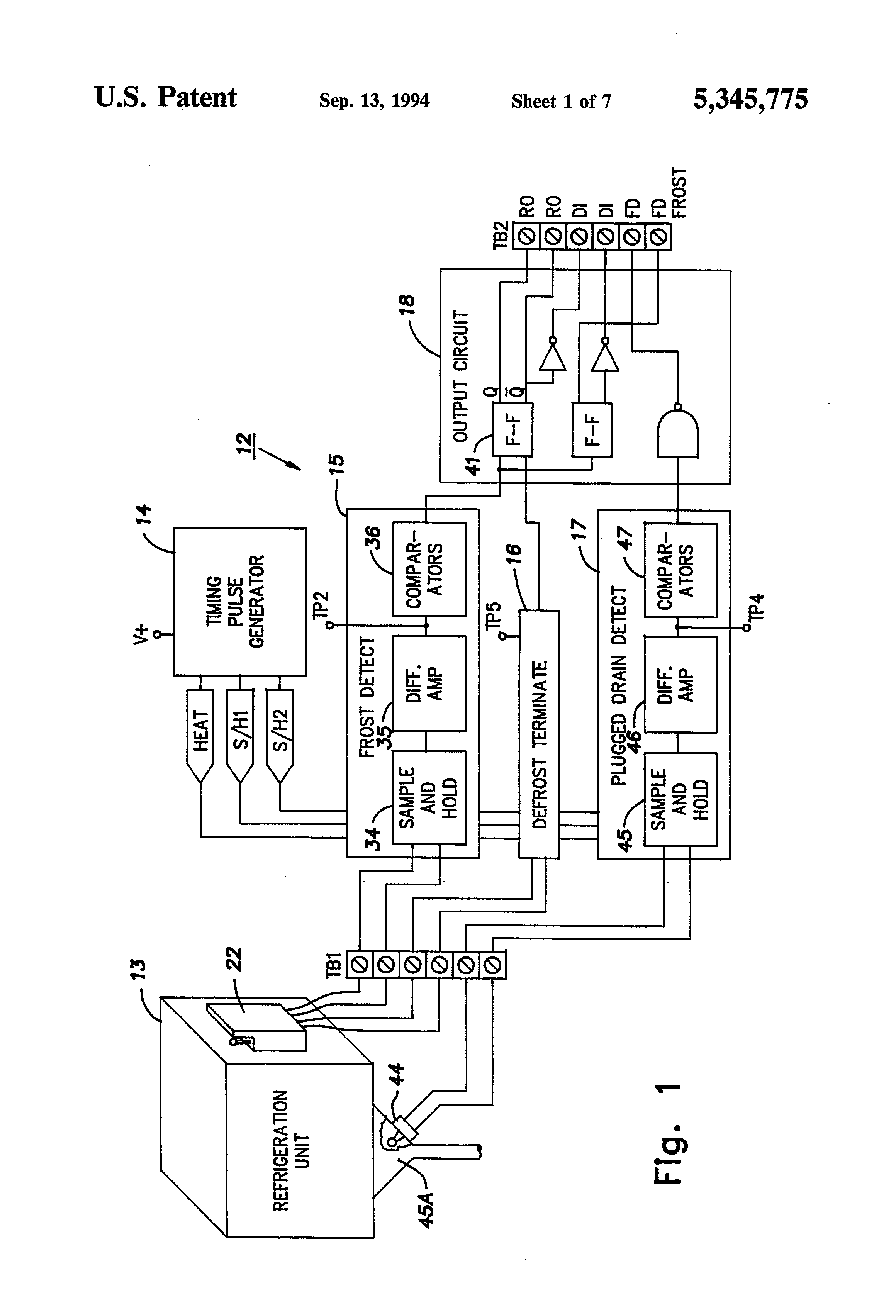 wiring diagram of refrigeration system sub breaker panel patent us5345775 detection assembly