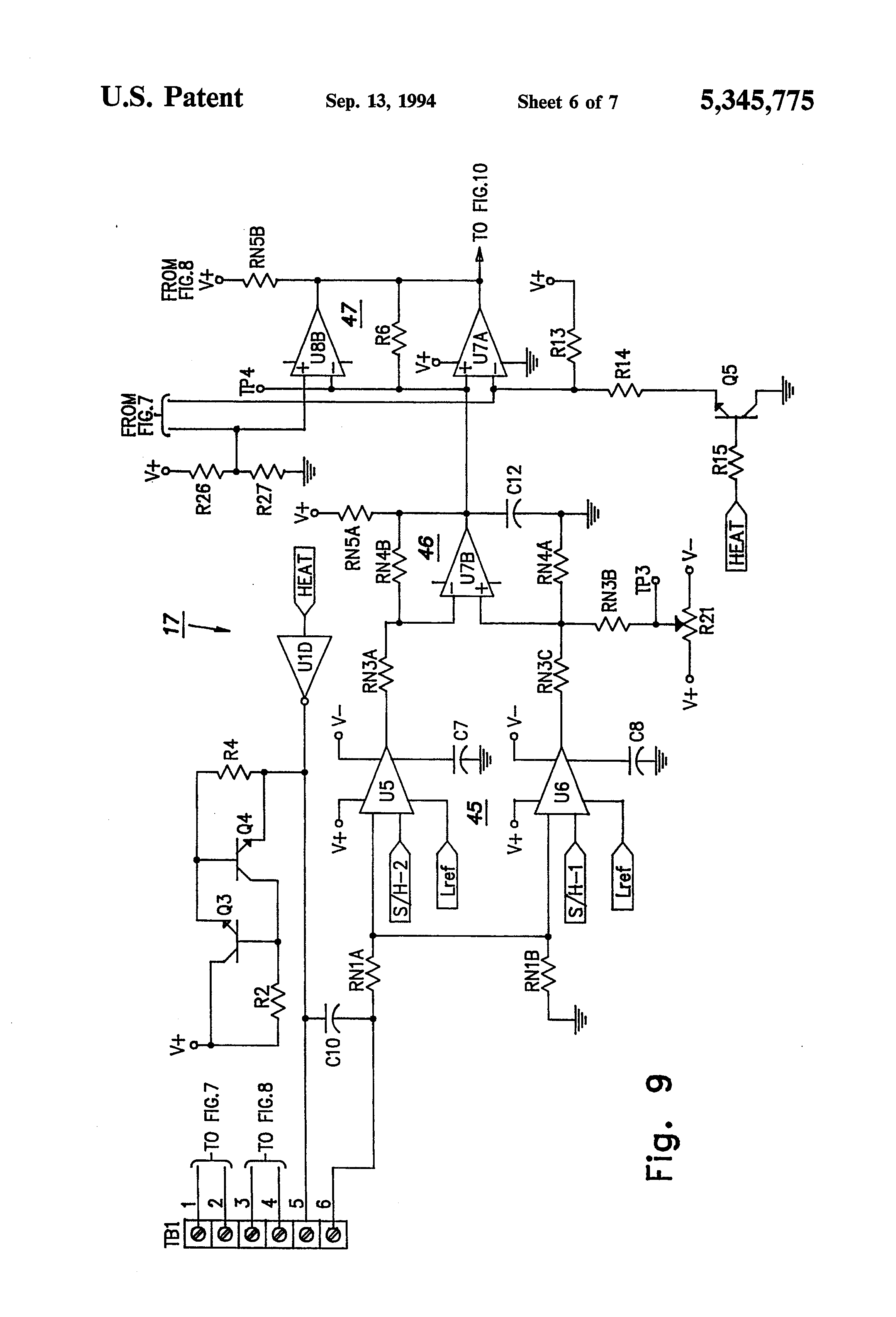 wiring diagram of refrigeration system fender stratocaster deluxe hss patent us5345775 detection assembly