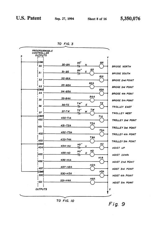 small resolution of demag crane circuit diagram demag image wiring diagram patent us5350076 bridge crane electric motor control system