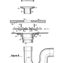Toilet Flange Diagram 1969 Ford F100 Wiring Patent Us5372715 Siphonage Floor Drain And Port