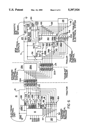 Patent US5397924  Truck tractor and trailer electrical