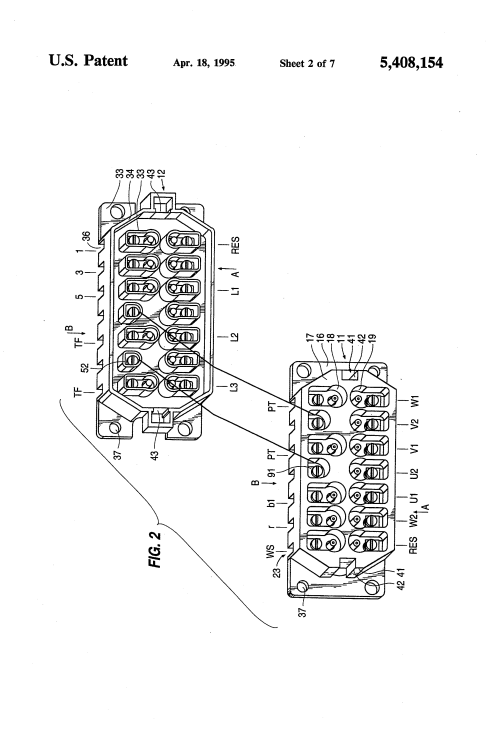 small resolution of us5408154 2 patent us5408154 motor connection block particularly for sew eurodrive motor wiring diagram at