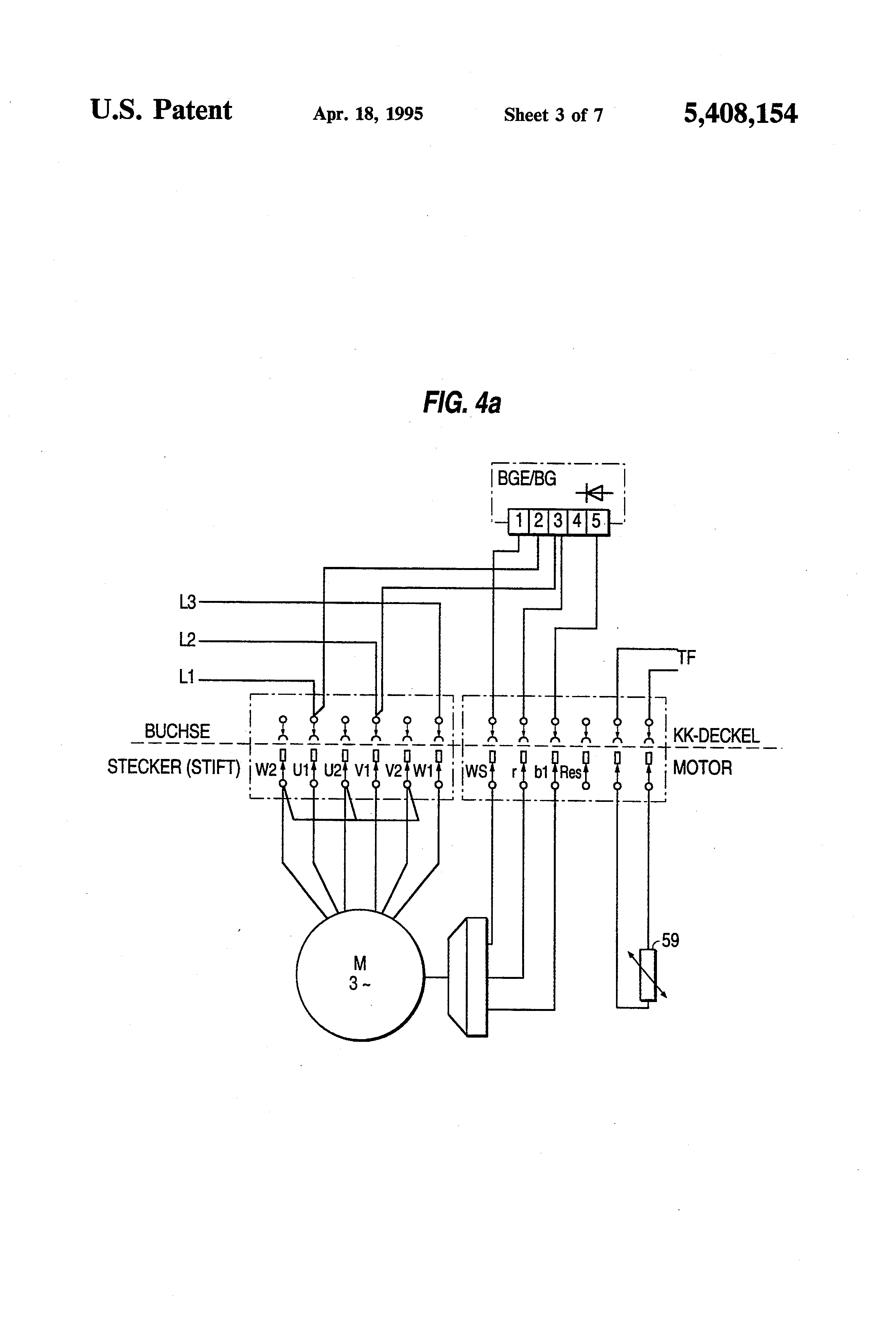 wiring connection diagram 2003 chevy avalanche bose stereo patent us5408154 motor block particularly