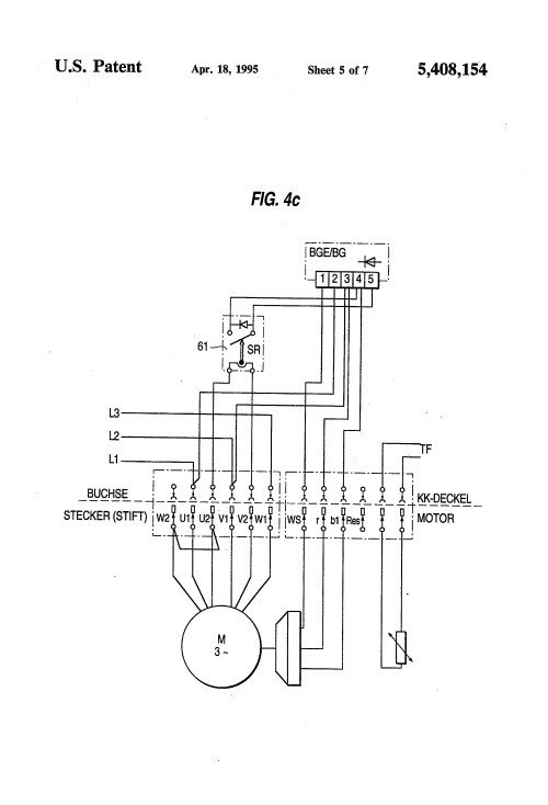 small resolution of sew eurodrive wiring diagram schema wiring diagrams delta electric motor wiring diagrams patent us5408154 motor connection