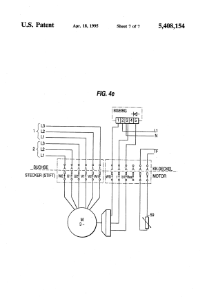 Patent US5408154  Motor connection block, particularly
