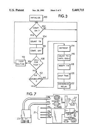 Patent US5469715  Defrost cycle controller  Google Patents