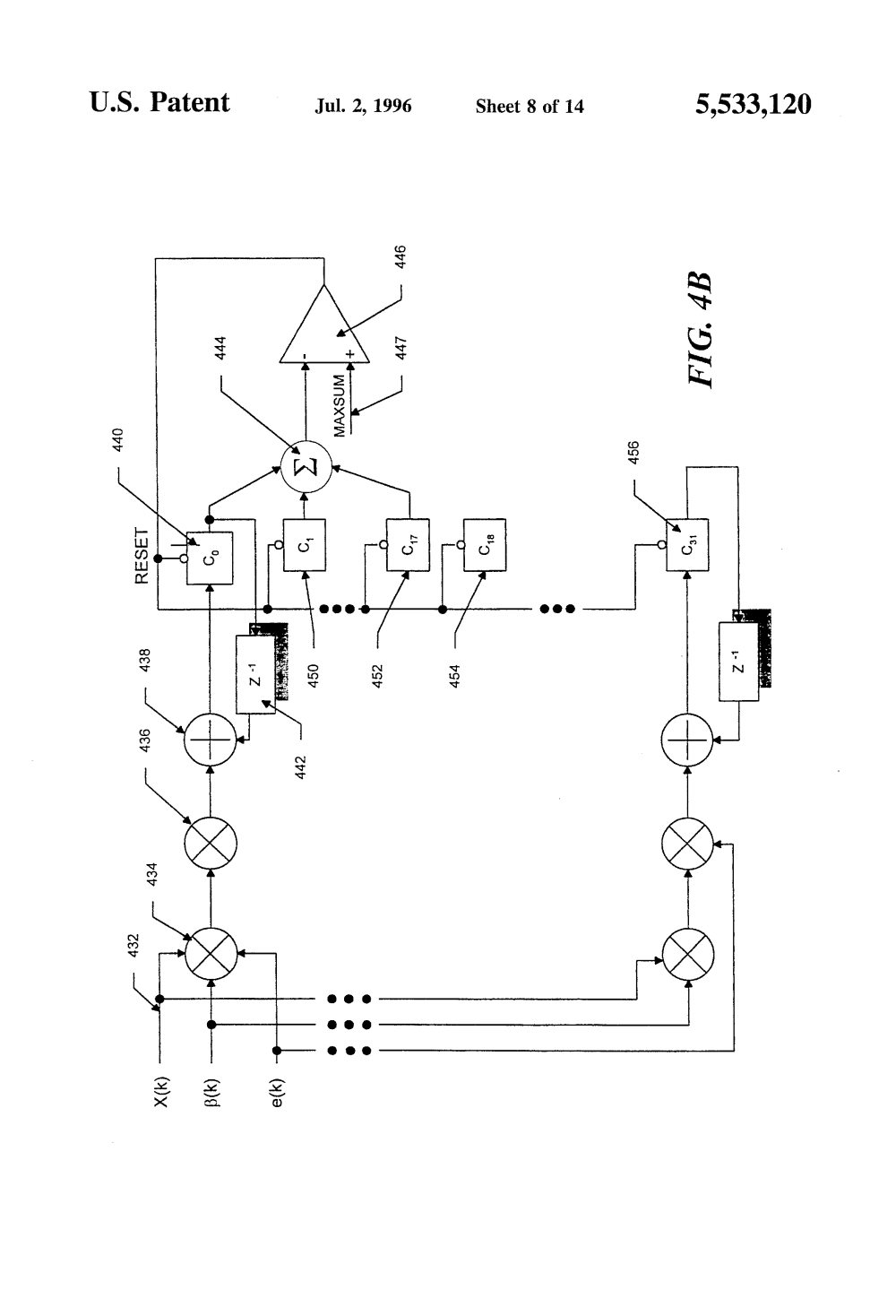 medium resolution of patent us5533120 acoustic feedback cancellation for equalized shure 444 microphone wiring diagram shure 444 microphone wiring