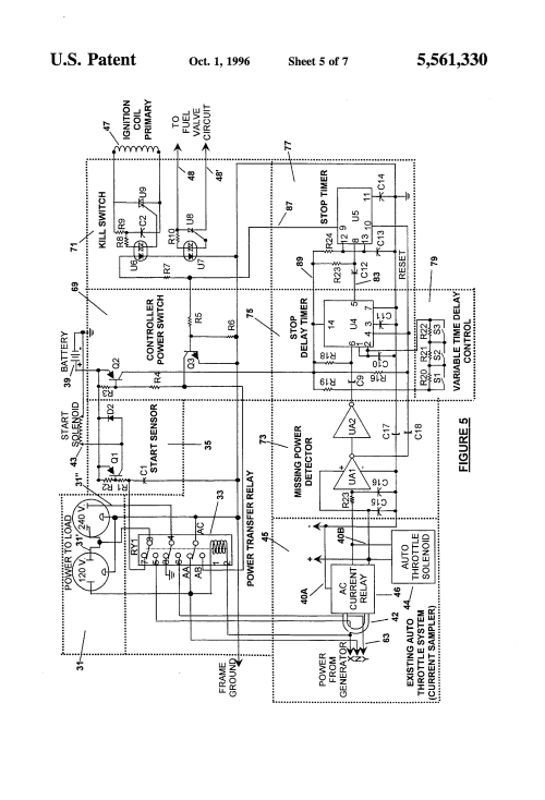 small resolution of  us5561330 5 patent us5561330 automatic electric power generator control delco light plant wiring diagram at cita