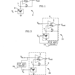Circuit Diagram Of Non Inverting Amplifier Vdo Tach Wiring Patent Us5581213 Variable Gain