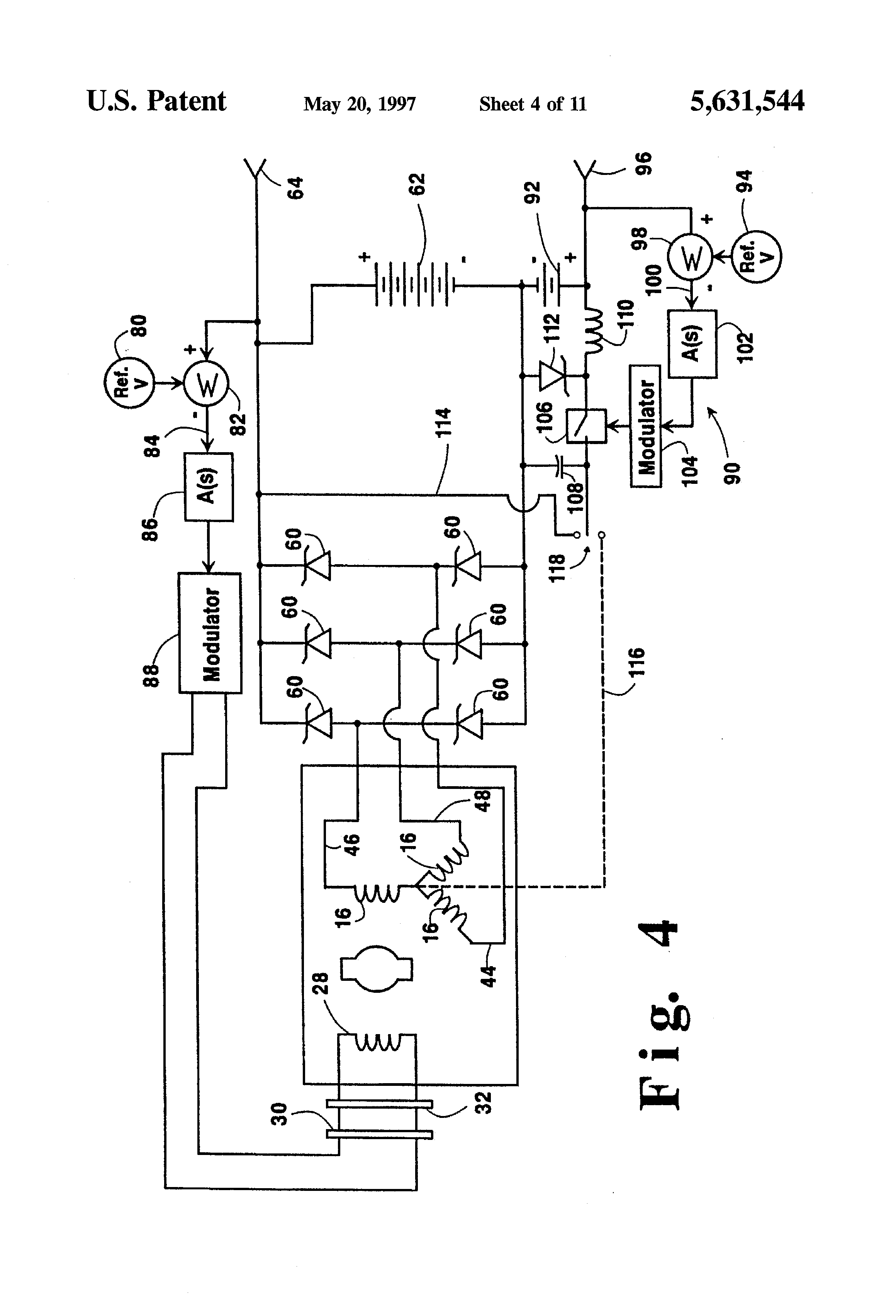 denso 12v alternator wiring diagram amp research patent us5631544 hybrid with voltage