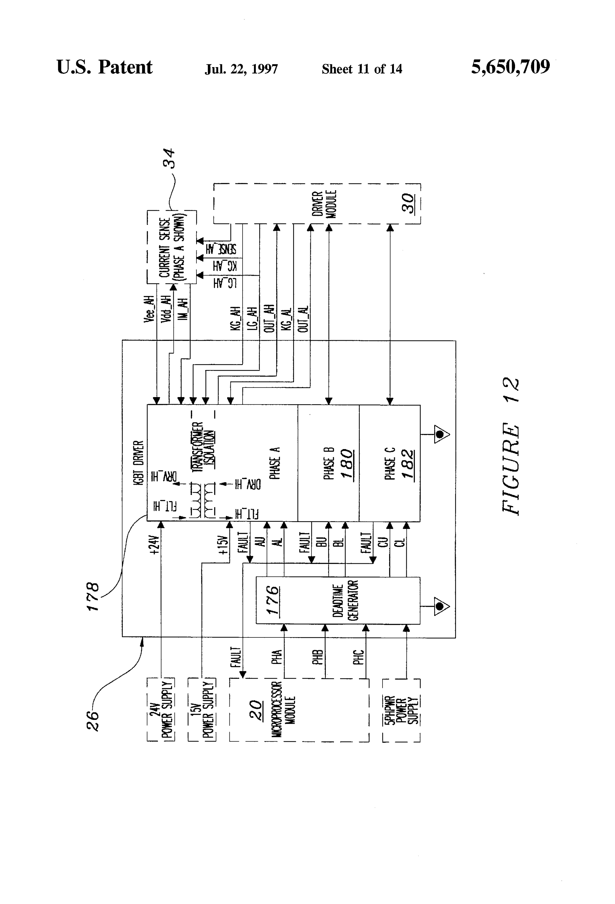 hight resolution of us5650709 11 patent us5650709 variable speed ac motor drive for treadmill treadmill motor wiring diagram