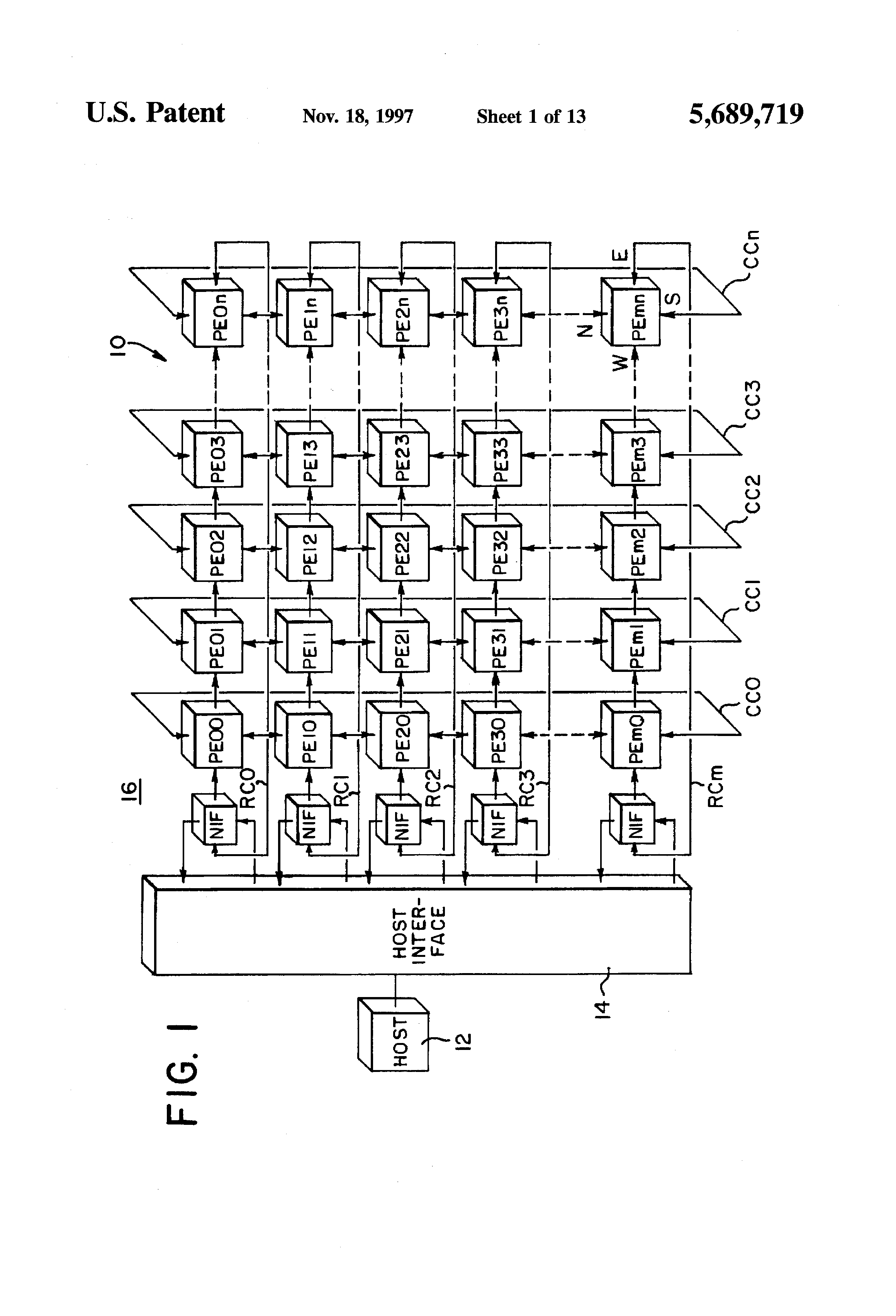 Parallel computer system including processing elements
