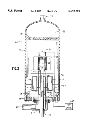 Patent US5692389  Flash tank economizer  Google Patents